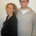 Couple attending hypnobirthing classes
